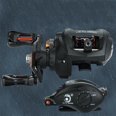 SEAYOU Dual Brake System Baitcasting Reel 195g Ultra Lightweight 6.3:1 High Speed Casting Fishing Reel With Hollow Knob