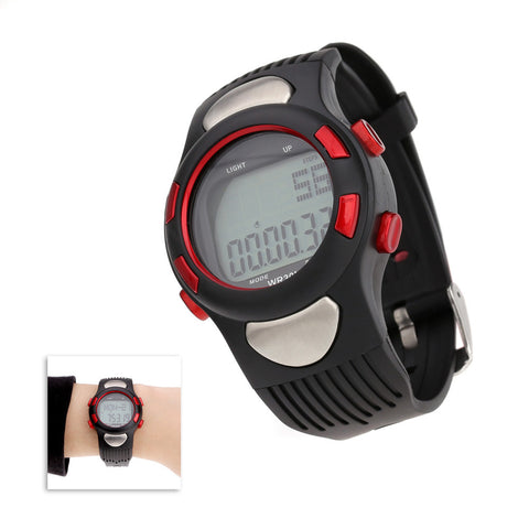 3ATM Water-resistant Sports Pulse Heart Rate Monitor Fitness Exercise Watch Pedometer Calorie Stopwatch Outdoor Cycling