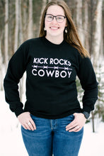 Load image into Gallery viewer, Kick Rocks Cowboy Crewneck Sweater