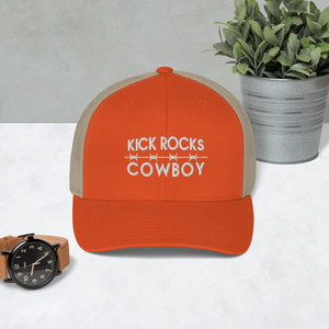 Kick Rocks Cowboy Trucker Hat