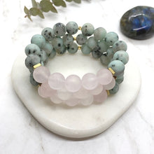Load image into Gallery viewer, Sage & Stone Stretchy Gemstone Bracelet