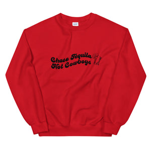 Chase Tequila, Not Cowboys Crewneck