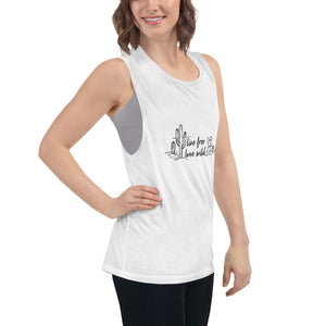Live Free, Love Wild Muscle Tank
