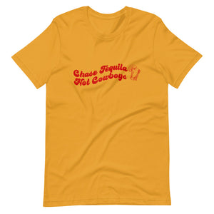 Chase Tequila, Not Cowboys Tee (RED)