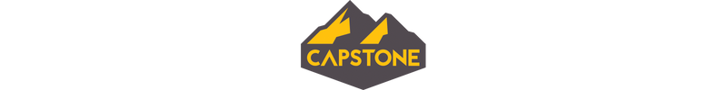 Capstone Logo - Yellow and Grey Mountains