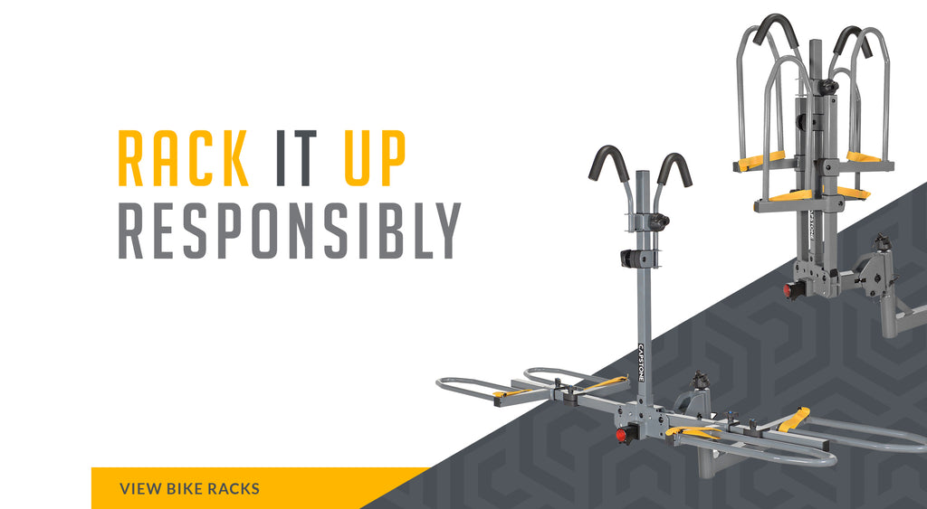 Rack it Up Responsibly - Picture of Hitch Mount 2 Bike Carrier (Open and Closed) VIEW BIKE RACKS