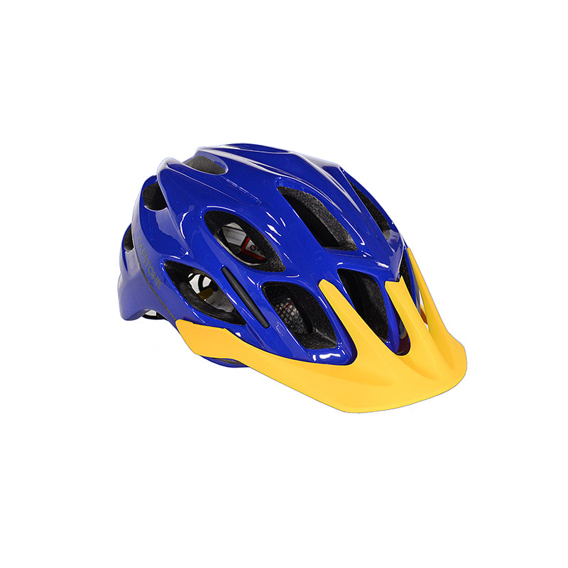 Capstone Sports - Adult All Mountain Helmet - Blue base color with a yellow lid