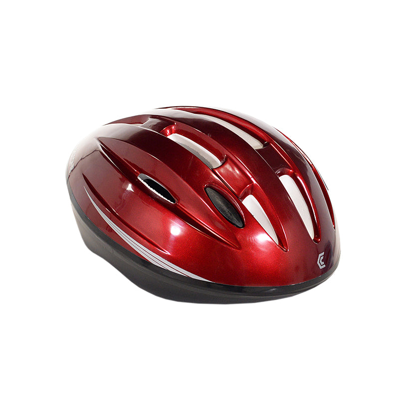 All red adult helmet