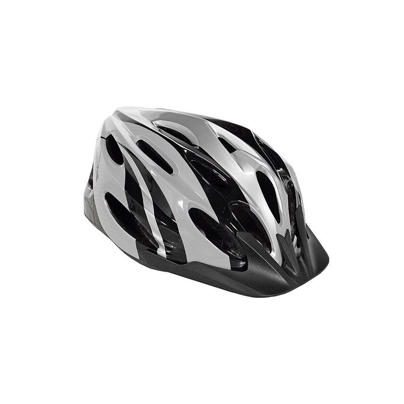 Capstone Sports - Angled View - Adult Men's Black Elite Helmet - Silver with Black Visor