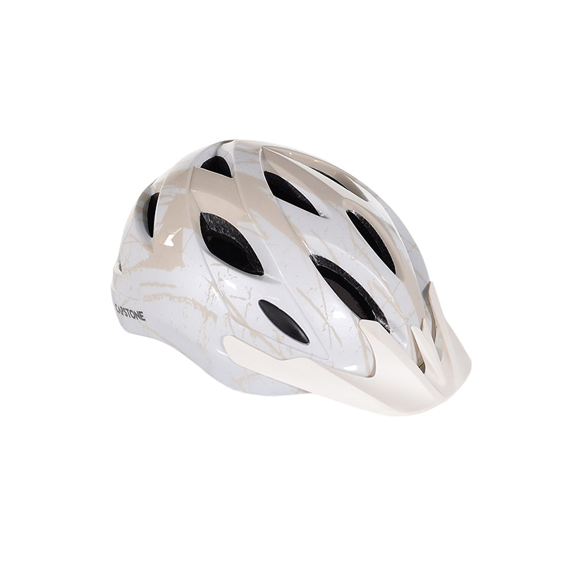 Adult White & Beige Commuter Helmet