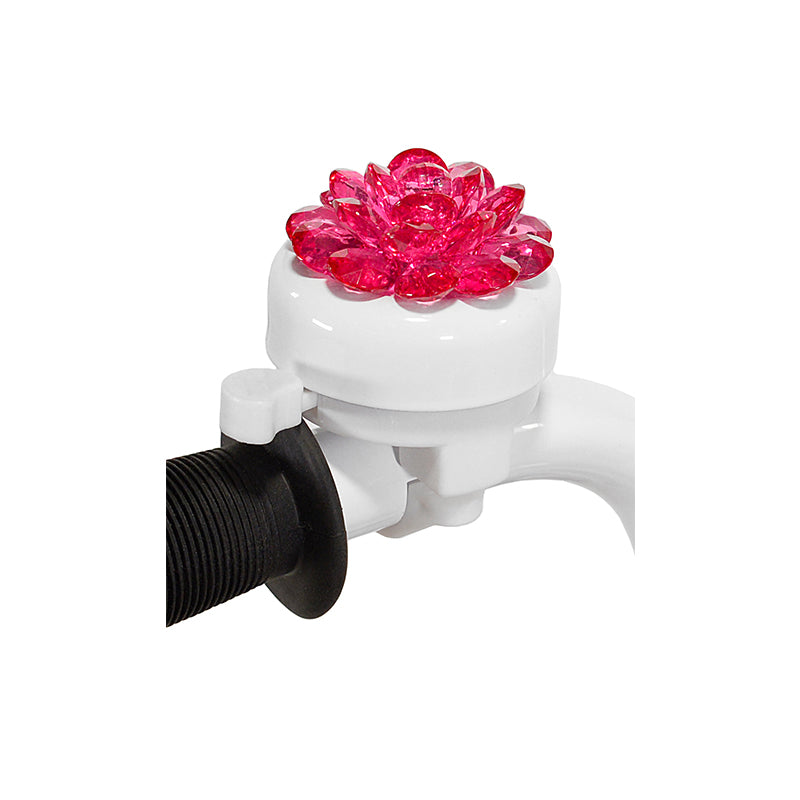 Flower bell with white base and  dinger - pink flower on top
