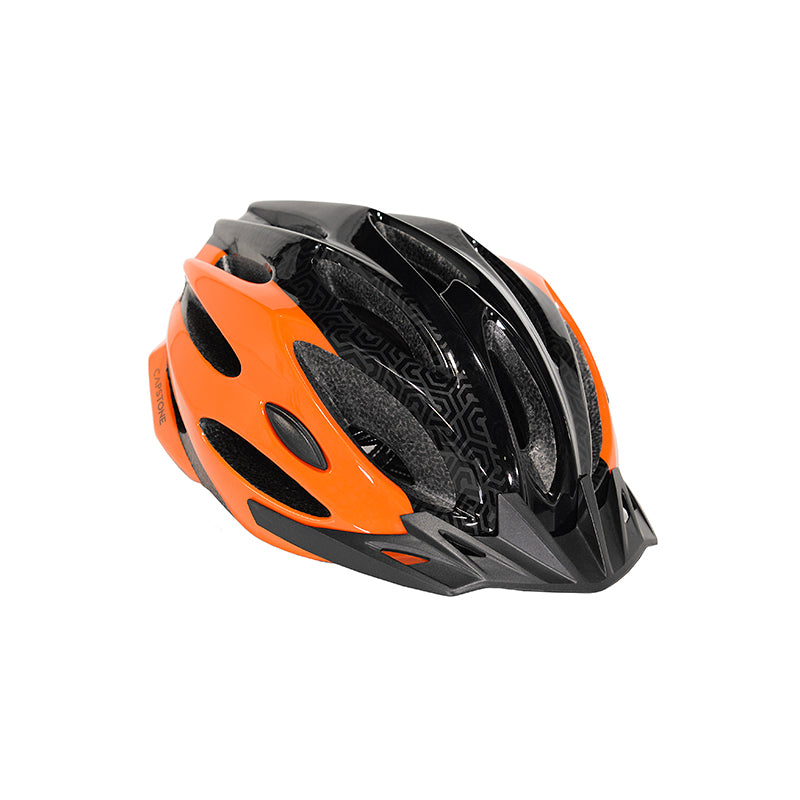 Youth Orange and Black Helmet
