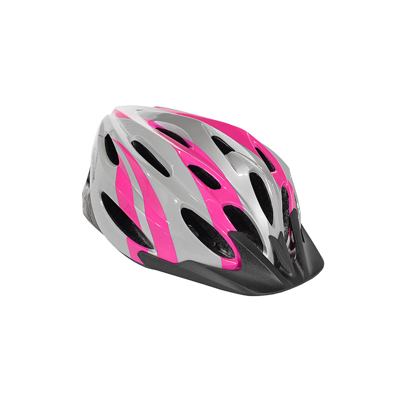 Adult Ladies Pink Elite Helmet - Grey, Pink, and Black