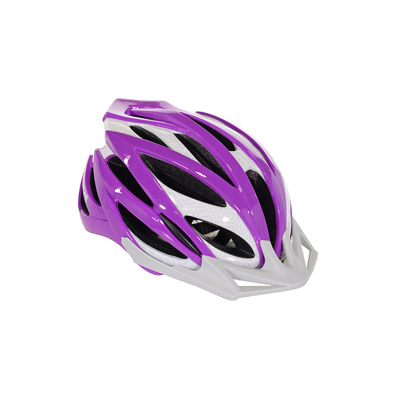 Youth purple and white helmet