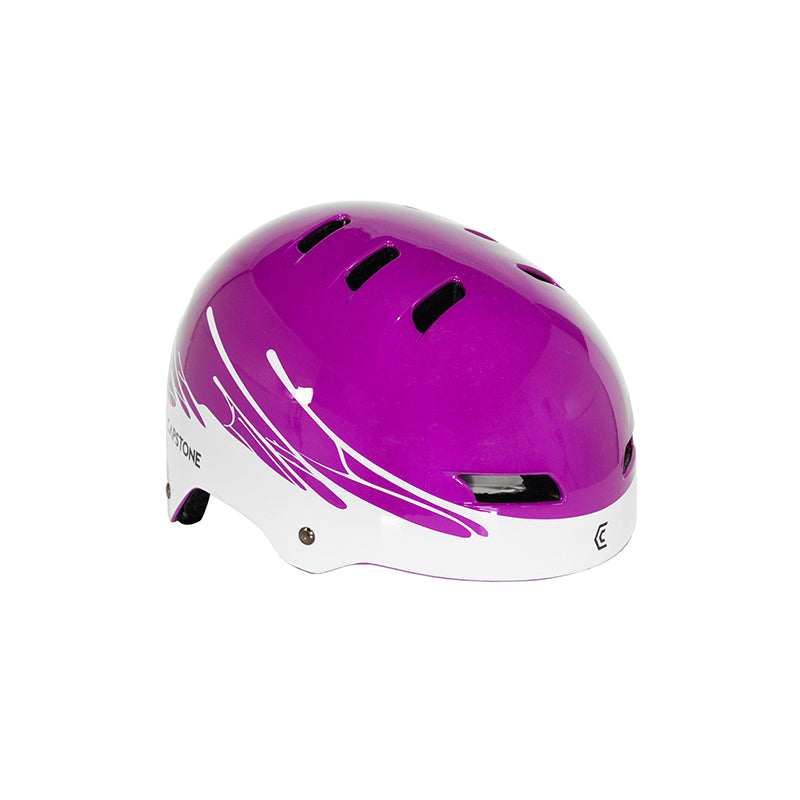 Youth Purple hemet with white paint drip design