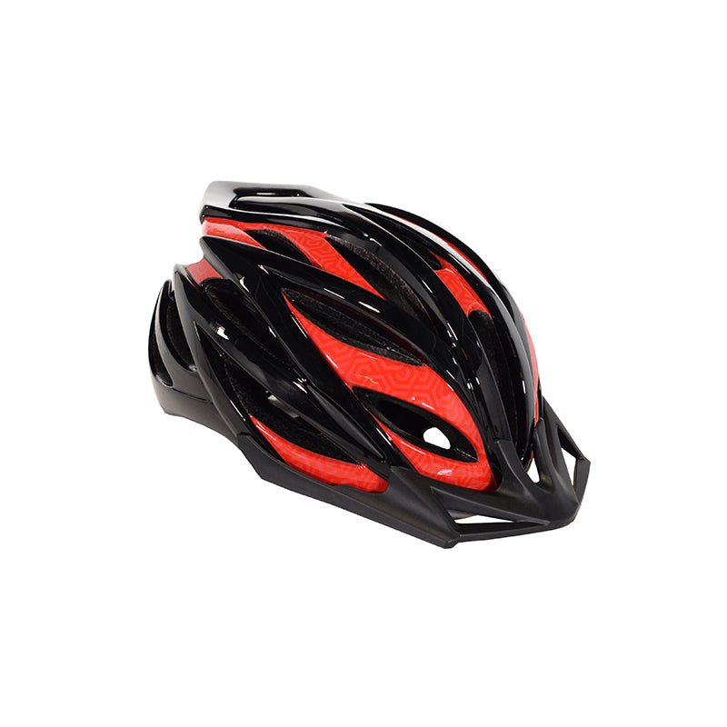 Adult Men's Red & Black Cycling Helmet - Mainly black with red accents