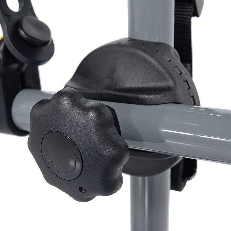 Closeup of 3 Bike Trunk Mount Rack - Adjustable Knob