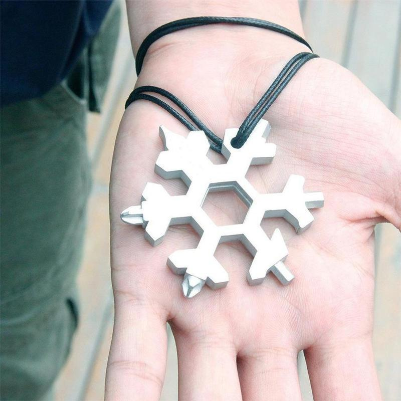 Amenitee 18-in-1 stainless steel snowflakes multi-tool