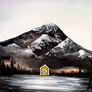 the lake house by emma rodrigues watercolor on paper