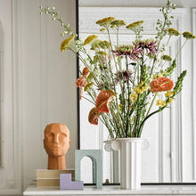 Load image into Gallery viewer, terracotta head sculpture on mantel