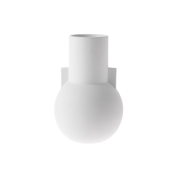 nordic style vase in matt white by hk living usa