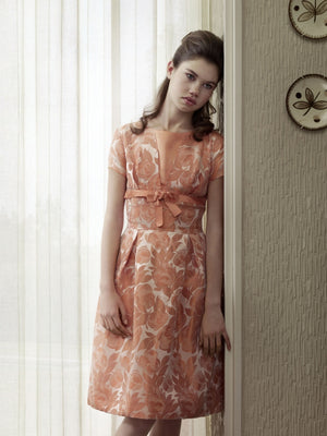 Erwin olaf grief series portrait of sarah woman in orange dress