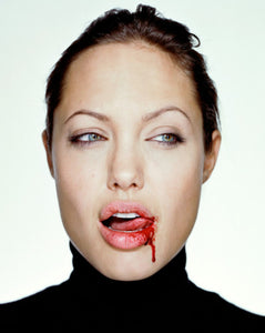 angelina jolie with blood by photographer Martin Schoeller