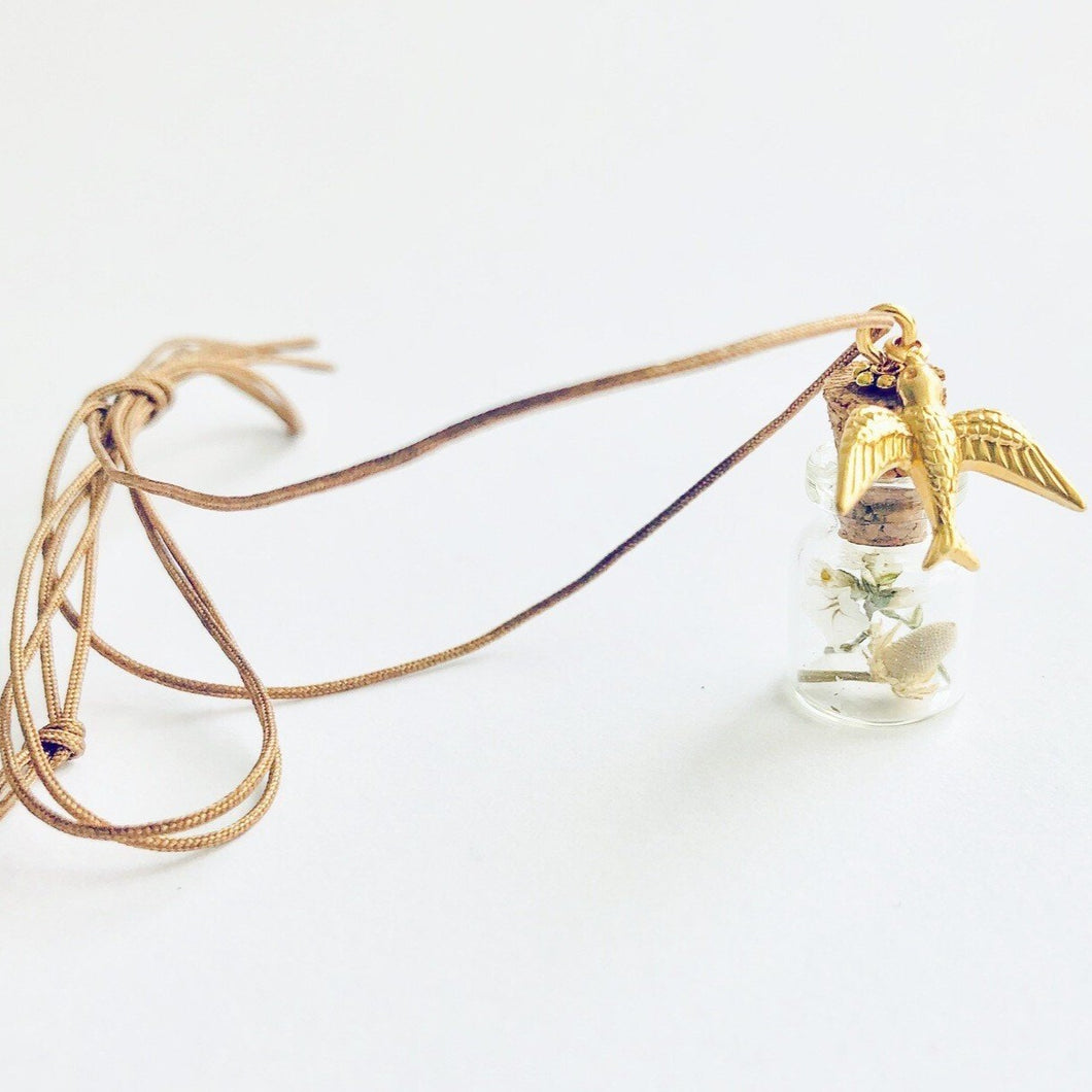 ART GIFT | Botanical mini bottle cord