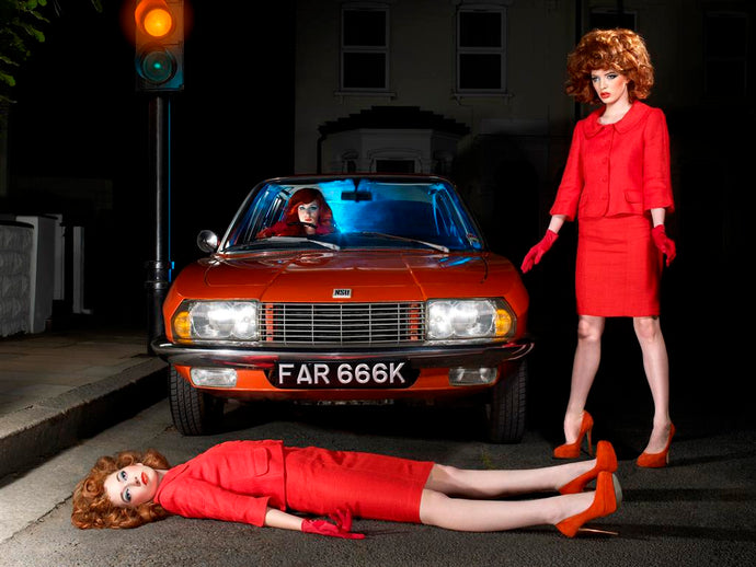 Mel Bagshaw - Nine Lives - Orange car