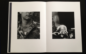 black and white photos from  photobook here are the young men by claire felicie