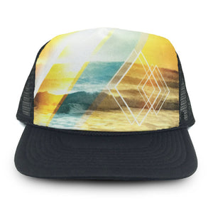 designer trucker had with artistic image