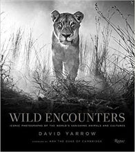 Load image into Gallery viewer, cover of black and white photbook wild encounters wildlife photography by david yarrow