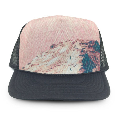 trucker hat by HMD with Holli Zollinger fabric