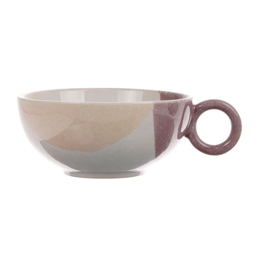 artsy tea cup in pastel color
