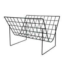 Load image into Gallery viewer, black metal wire magazine rack