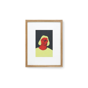 framed art print with colors yellow red and black