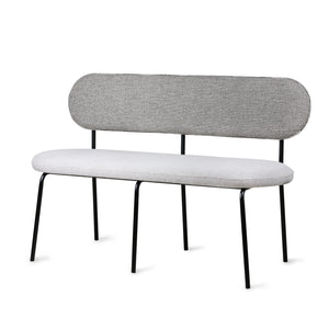 grey bench with back designed by HKliving