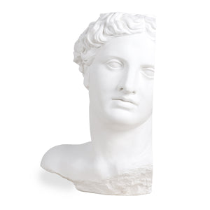 replica of Apollo sculpture made from white plaster