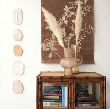 Load image into Gallery viewer, Wall sculpture | glossy taupe - small