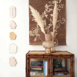 ART GIFT | Wall sculpture | glossy taupe - small