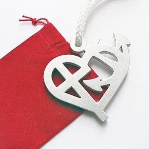 faith hope love metal design pendant