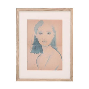 framed art work of woman called aimee