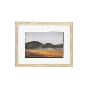 framed art work mountains