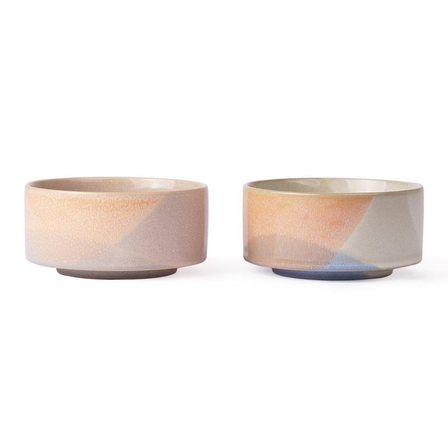 set of 2 bowls in pastel colors