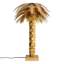 Load image into Gallery viewer, brass palm tree sculpture light by HK living USA