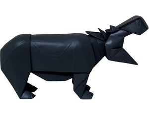 ART GIFT | Wooden Hippo - black