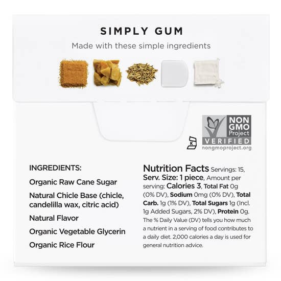 Fennel Natural chewing gum