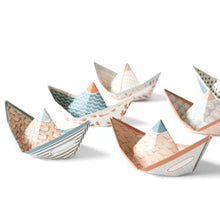 Load image into Gallery viewer, art gift: paper boats you can fold yourself in pastel colors