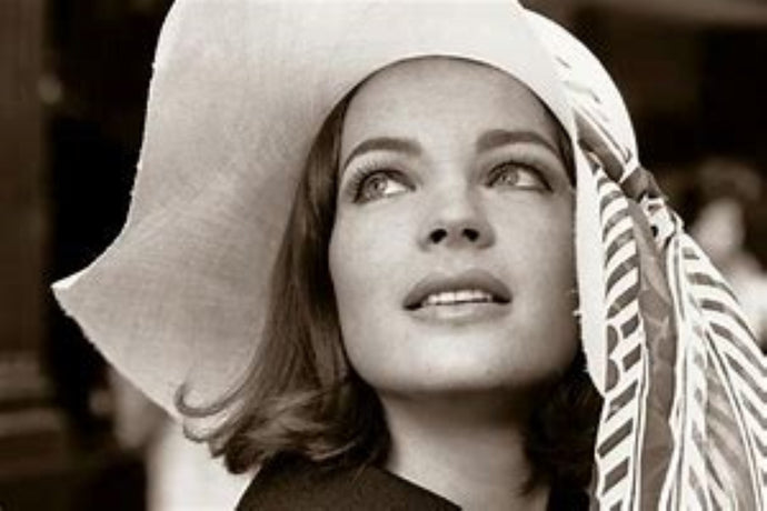 Romy Schneider with hat by Werner Bokelberg