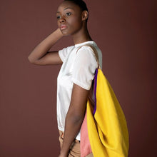 Load image into Gallery viewer, artsy bag by HK living USA made of linen in yellow and pink
